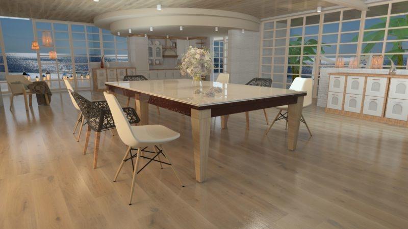 biliardo tavolo canosa italia nove laccato marono e bianco