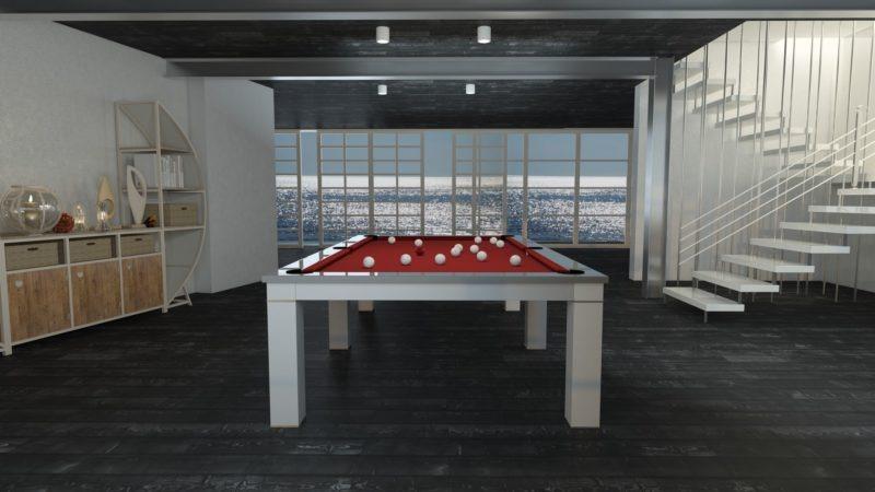 biliardo tavolo italia luxor laccato pronta consegna