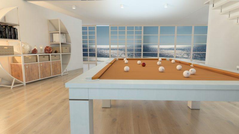 biliardo tavolo italia luxor pelle ocean design