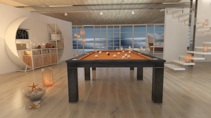 biliardo tavolo italia luxor tinto wenge al mare