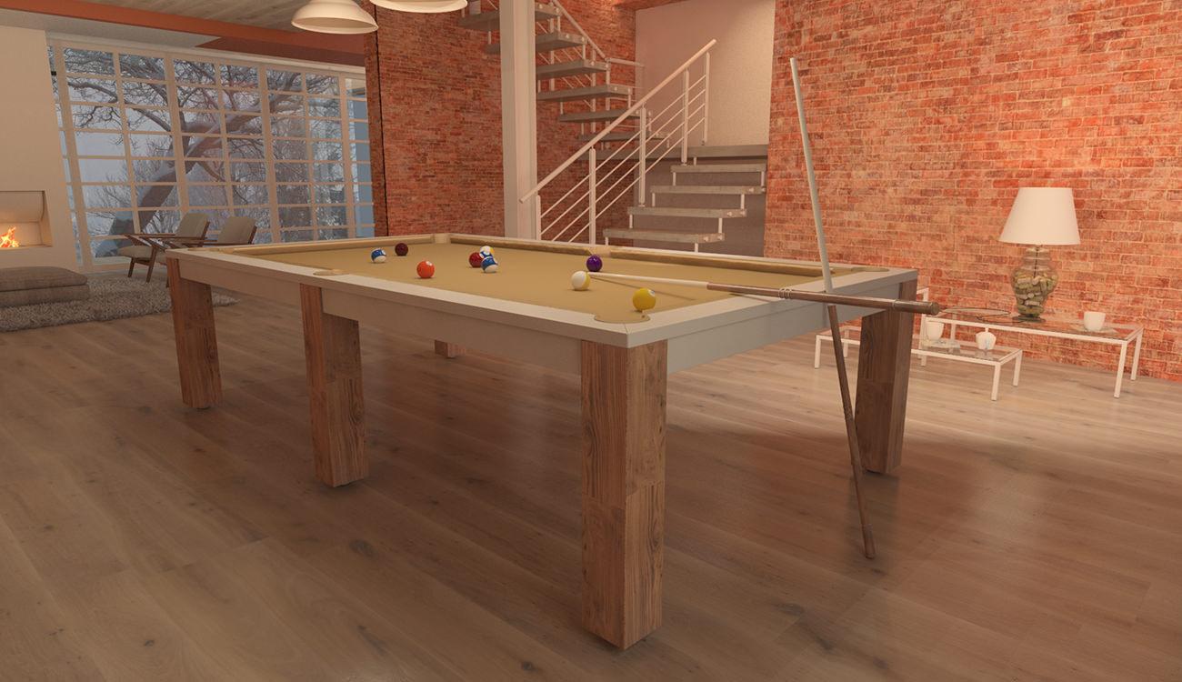 tavolo biliardo italia quattro bicolore 9 ft