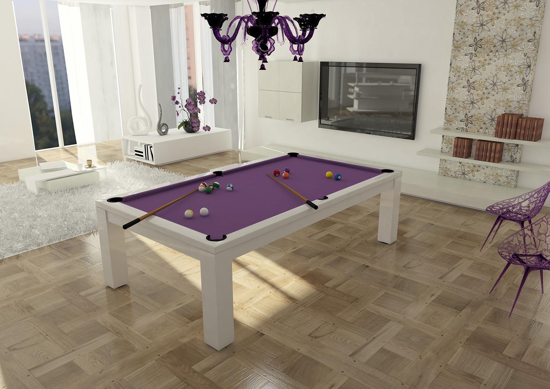 tavolo biliardo italia quattro laccato bianco pool
